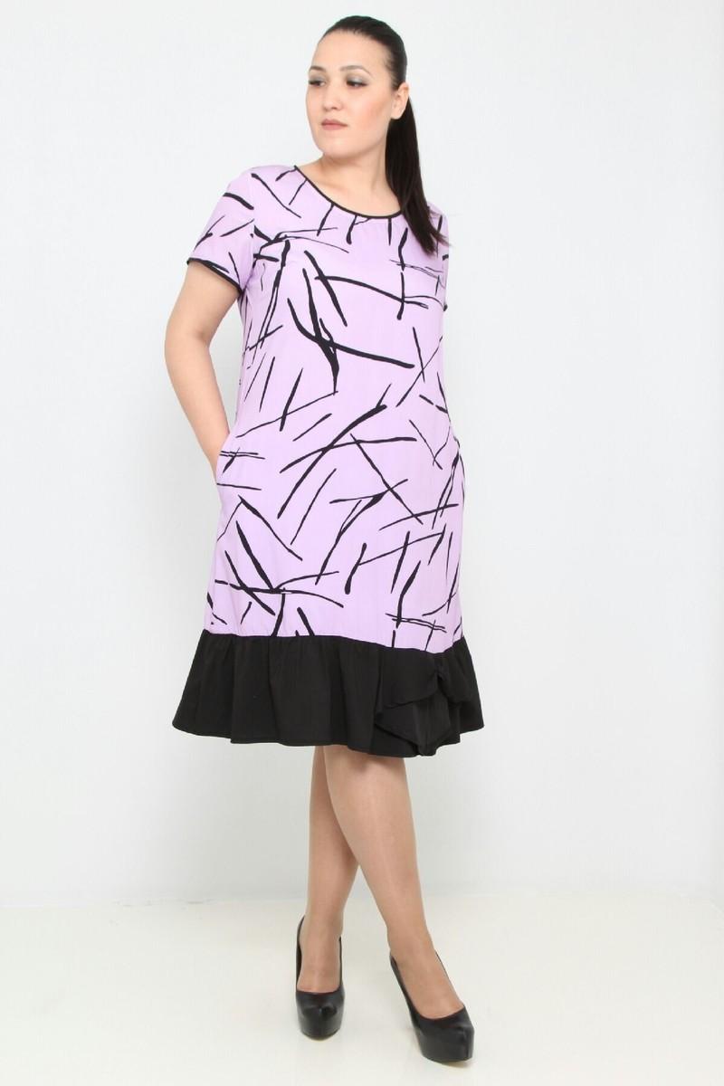 26 $ ЦВЕТ: ЛИЛОВЫЙ РАЗМЕРЫ: 42, 44, 46, 48 Одежда - Ежедневные платья средней длины Оптовые покупки  100% Полиуретан