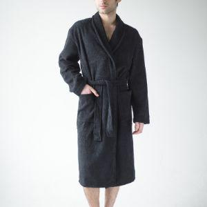 Черный махровый халат