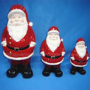 Керамическое украшение рождества, Figurine Santa Claus (домашнее украшение)
