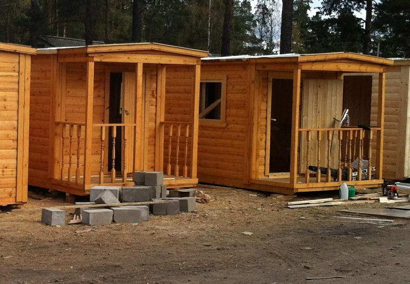деревянные бани 3х5м