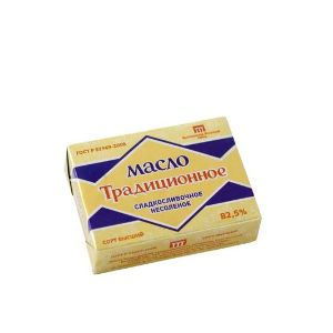 Сливочное масло. Масло сладко-сливочное Традиционное 82,5%, 180 г. и 200 г.