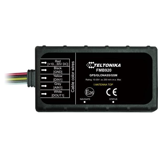 FMB920 — маленький умный трекер с микрокартой SD, Bluetooth v3.0 и встроенным аккумулятором аварийного питания. FMB920 — лёгкий, ГНСС/GSM/Bluetooth терминал, предназначенный для трекинга в режиме реального времени. Трекер собирает данные о местонахождении и работе движущегося объекта и передаёт их по GSM-сети на сервер. Подключение внешних Bluetooth-устройств позволит значительно расширить функциональные возможности трекера FMB920. FMB920 идеально подходит для применений, где требуется определение местоположения удалённых объектов: •безопасность •управление автопарками •аренда автомобилей •службы такси •общественный транспорт •логистические компании •легковые автомобили и т. п. Bluetooth Встроенная функция Bluetooth обеспечивает подключение беспроводной гарнитуры и различные датчики с поддержкой Bluetooth. Связывайтесь со своими сотрудниками через Bluetooth гарнитуру. Теперь больше нет несанкционированных звонков! Убедитесь, что ваши сотрудники соблюдают правила дорожного движения и всегда пользуются телефоном только через Bluetooth-гарнитуру! MicroSD Вы не потеряете ни одной записи благодаря наличию microSD-карты ёмкостью до 32 ГБ! При временном отсутствии сотовой связи FMB900 сохранит все данные на microSD карте. Современная противоугонная система Предотвратите угон вашего транспортного средства при помощи современной противоугонной системы, совмещающей в себе функции геозоны и обнаружения буксировки. Ультра компактный размер Легко установить, сложно обнаружить! Устройство защищено от внепланового отключения благодаря не. Размер трекера всего: 79 x 43 x 12 мм. Умная функция обнаружения аварии Обеспечьте безопасность ваших сотрудников при помощи умной функция обнаружения аварии (SMART Crash detection). Оповещение о тревоге приходит мгновенно сразу после инцидента, это спасёт жизнь вашим сотрудникам! Отличительные особенности •Bluetooth приёмопередатчик с поддержкой Bluetooth V3.0 для подключения внешних устройств •Карта памяти microSD ёмкостью до 32 ГБ, до 275 милл