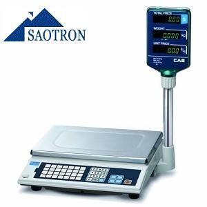 Торговых весы CAS AP-EX . Торговые весы, предназначенные для взвешивания и фасовки товара, а также расчета стоимости, оборудованы дополнительной клавиатурой для программирования тех цен, что используются чаще всего. Это позволяет сократить время на обслуживание покупателей.