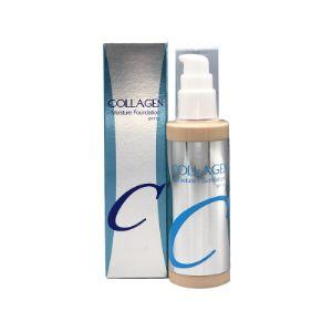 ENOUGH Collagen Moisture Foundation SPF 15 #23 Увлажняющий тональный крем с коллагеном. Увлажняющий тональный крем с коллагеном не только обеспечивает надежную маскировку несовершенств кожи, но и превосходно ухаживает за ней. Коллаген разглаживает структуру кожи и выравнивает ее тон, делает упругой и эластичной, обладает регенерирующим, ранозаживляющим и успокаивающим действием. Бета-глюкан обладает антиоксидантным действием, предотвращая преждевременное старение. Гиалуроновая кислота повышает уровень  увлажненности кожи и препятствует обезвоживанию. Экстракт центеллы азиатской обладает противовоспалительным и ранозаживляющим действием, снижает чувствительность кожи, уменьшает отеки, оказывает сосудоукрепляющее действие и уменьшает купероз. Способ применения: нанесите необходимое количество тонального средства и равномерно растушуйте, используя специальный спонж, кисть или подушечки пальцев.