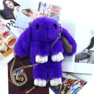 Меховая сумка-рюкзак Зайчик кролик красный, 350 грн