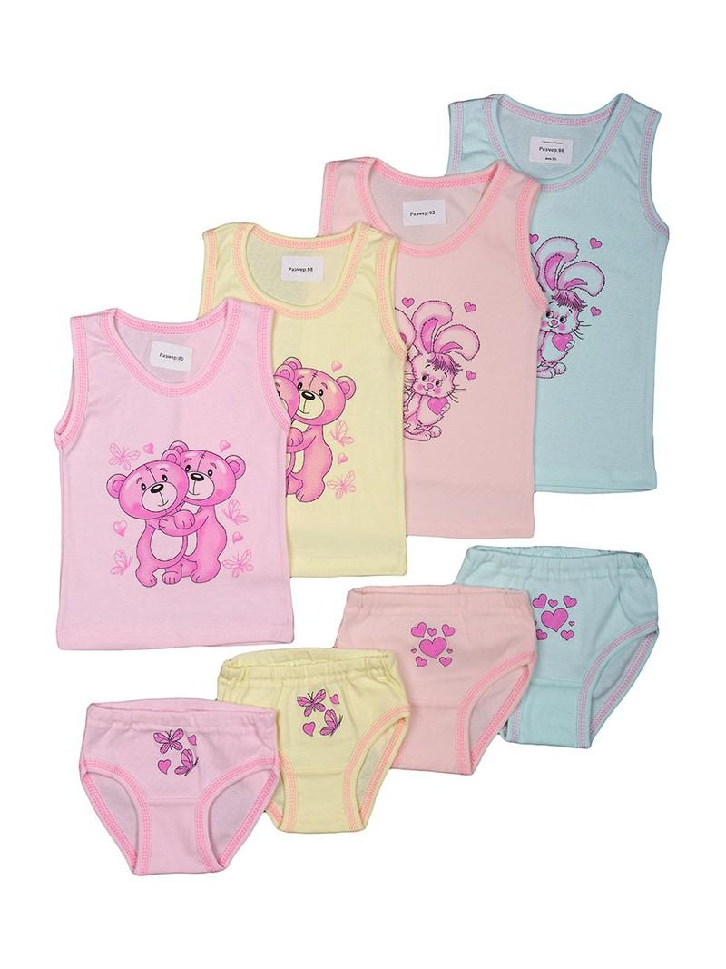 Трикотажные комплекты для девочек, интерлок  Размеры: 80-86-92- 100% хлопок Цена 150 рублей Возраст от 1 до 7 лет