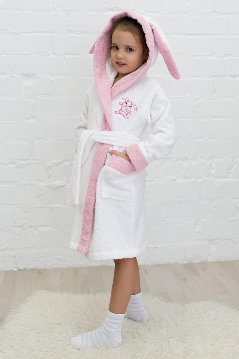 Халат махровый детский ЗАЙКА с ушками, 100% хлопок, размерный ряд с 92 по 122,цена 770 руб