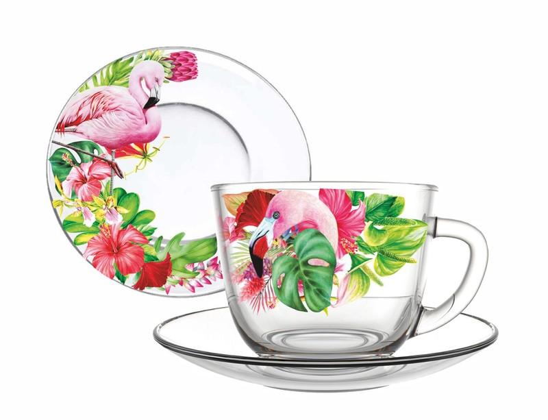 """Серия """"Фламинго"""". В наличии весь ассортимент для сервировки стола."""