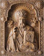 резные иконы из дерева, киоты, домашние иконостасы, полки