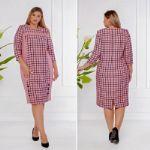 Платье в клетку (розовое) Latika 174
