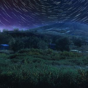 Фото с территории завода ночью