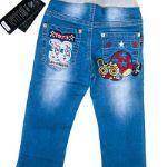 Брюки 8249.  Детские джинсовые брюки с апликацией