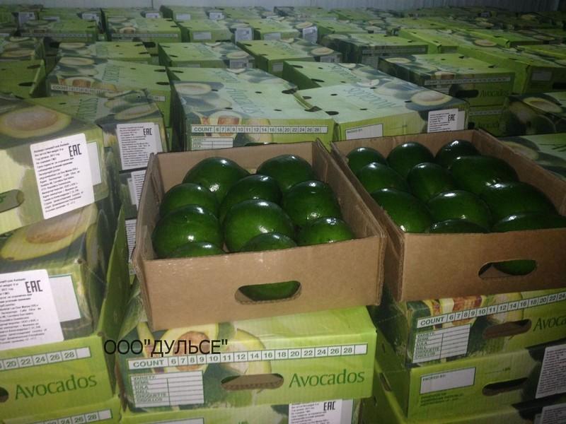 Авокадо, фрукты перед отправкой в упаковке