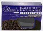 Мыло Fleurs by Hemani с черным тмином и черным кунжутом, 100 gr