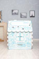"""Картонный игровой домик раскраска для детей / Подарок для детей / Развивающие игрушки Хоммик """"Универсальный"""" 10077000213"""