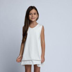 Платье Арт. 1.0201 Для особых случаев и на каждый день. Платье из тонкого трикотажа.  Состав: 92% хлопок, 8% эластан.  Доступные цвета: -какао (Арт.1.088) -молочный (Арт.1.0201) -ментол (Арт.1.1301) -пудра (Арт. 1.1508) -розовый (Арт. 1.3004) -черный (Арт. 1.3156) Размеры: 98, 104, 110, 116, 122, 128, 134
