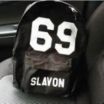 Мужской именной рюкзак с номером