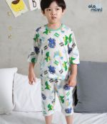 Стильная и удобная детская одежда для дома и сна Южная Корея Olomimi NEW20SS, Little Dino World, жаккард O20S703PB