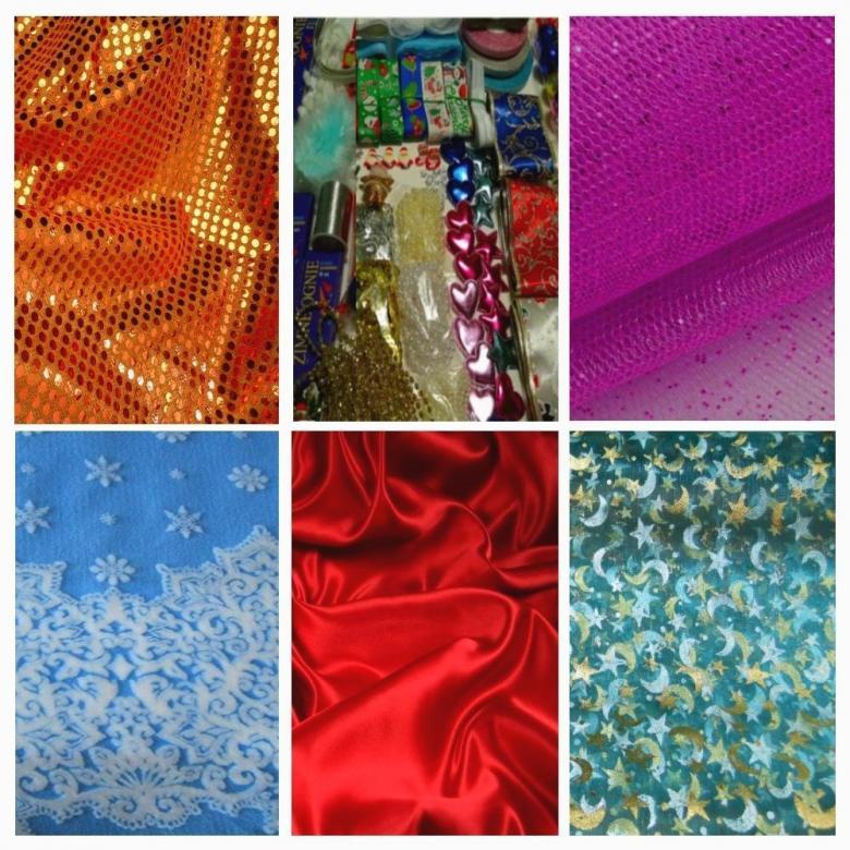 ткани и швейная фурнитура для праздничных платьев, костюмов, для оформления банкетных залов