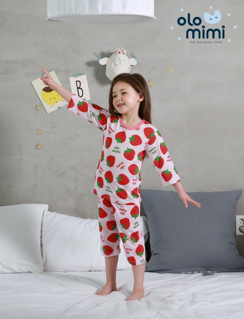 Стильная и удобная детская одежда для дома и сна Южная Корея Olomimi NEW20SS, Very very strawberry, жаккард