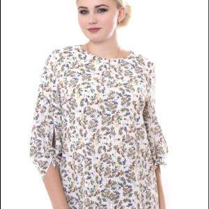 Блуза размер 50-60 вискоза, эластан