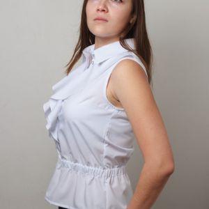 Блузка женская, артикул 1006,белый цвет, прекрасное сочетание с пиджаком.