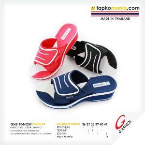 """Женские сланцы TM """"Gambol"""". Обувь ТМ Gambol (Thailand) обладает отличными характеристиками, и незаменима для  повседневного использования как в поездке на море так и  в городской среде."""
