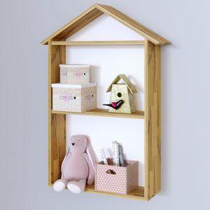 Полка для детской комнаты из массива