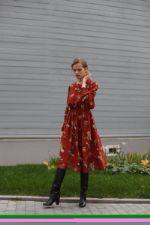 Платье из шифона LORANI LR-599