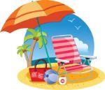 пляжные палатки от солнца, надувные круги, пляжные коврики