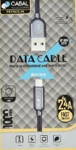 Кабель micro USB Cabal Premium CP-DCB-2221 серебристый