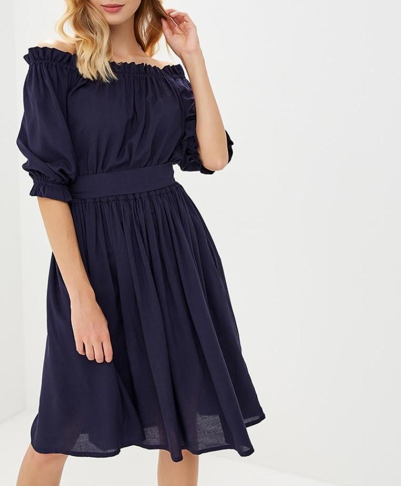 """Платье ALINA ASSI BASIC """"Крестьянка"""" Темно-синий"""