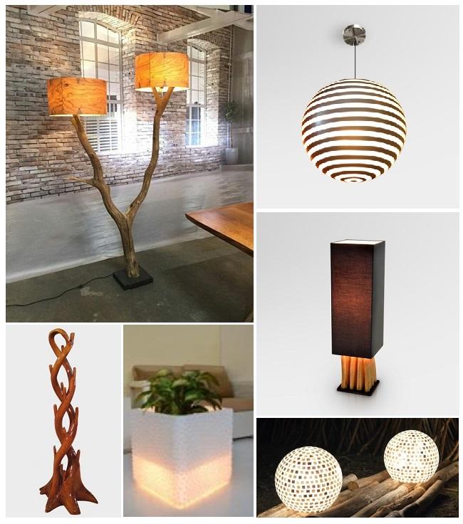 Декор и освещение из натуральных материалов, металлов и полимеров для интерьеров и наружного размещения.