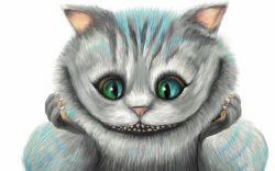 Чеширский кот — печать на различных поверхностях