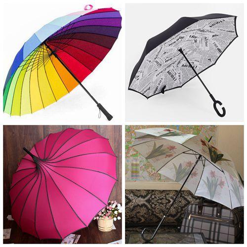 Зонт-трость радуга (механ),Зонт наоборот,Женские зонты оптом