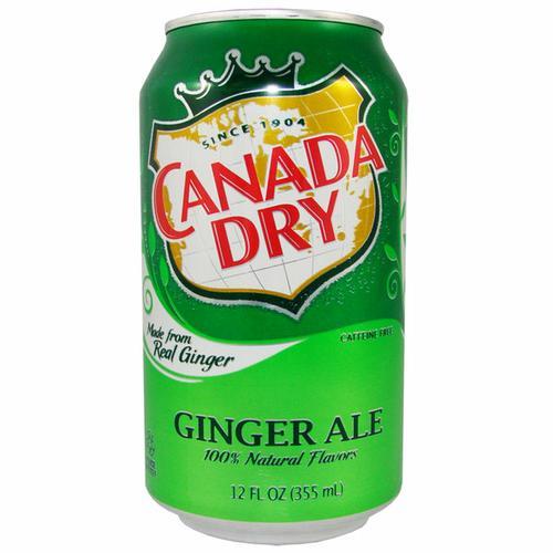 Напиток безалкогольный,газированный, CANADA DRY, 355 гр, ж/б, 12