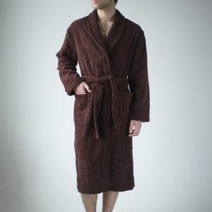 Шоколадный махровый халат