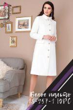 Белое пальто ЮРС 18-957-1