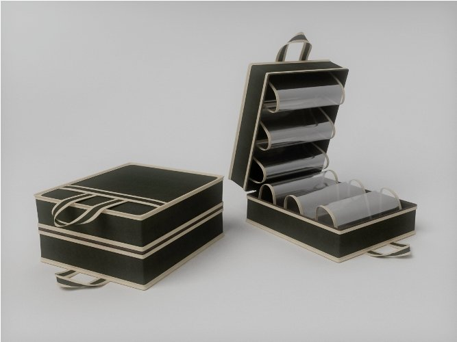 Чемоданчик для хранения и переноски обуви. на 6 пар, размер 35х40х20см