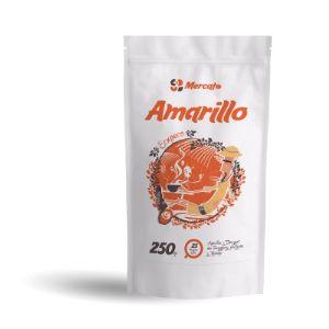Зерновой кофе Амарилло (Amarillo) –прекрасный бленд, состоящий из 100% качественной арабики из Бразилии. Зерна кофе собраны на высоте от 1000 метров. Бленд строгий и изящный, насыщенный и нежный. Этот купаж как букет цветов – имеет свой аромат, шарм и индивидуальность. Это настоящий алмаз в нашей коллекции. Этот купаж разрабатывался для ценителей насыщенного аромата, плотного тела и незабываемого послевкусия.