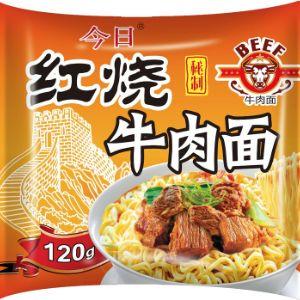 Лапша быстрого приготовления ТМ «Джин Ри Мидл» (JinRiMiddle) производства КНР. Данная лапша - вкуснейший аналог знаменитого Доширака от одного из лидеров пищевой промышленности Китая в максимальной весовой категории - 120г. (для сравнения Доширак в м/у - 70г.) 120 грамм «King Size» (+70% к весу Доширака) - королевский размер в продуктах быстрого приготовления на рынке РФ. Одной пачки достаточно для сытного обеда взрослого мужчины, что обеспечивает продукту гарантию стабильной повторной покупки, а яркий современный дизайн упаковки и коробки призван выделить продукт из другой товарной массы, особенно при полетной выкладке.
