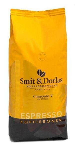 Compositie V. Уникальная зерновая смесь из зерен арабики (84%) и робусты (16%). Этот кофе произрастает на вулканических почвах и обладает мягким вкусом и ароматом.