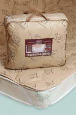 """Одеяло 2-х (175*205) Одеяло зимний с наполнителем из верблюжий шерсти """"Стандарт"""" в тике. 300гр"""