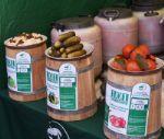 Бочковой томат, огурец, капуста квашеная