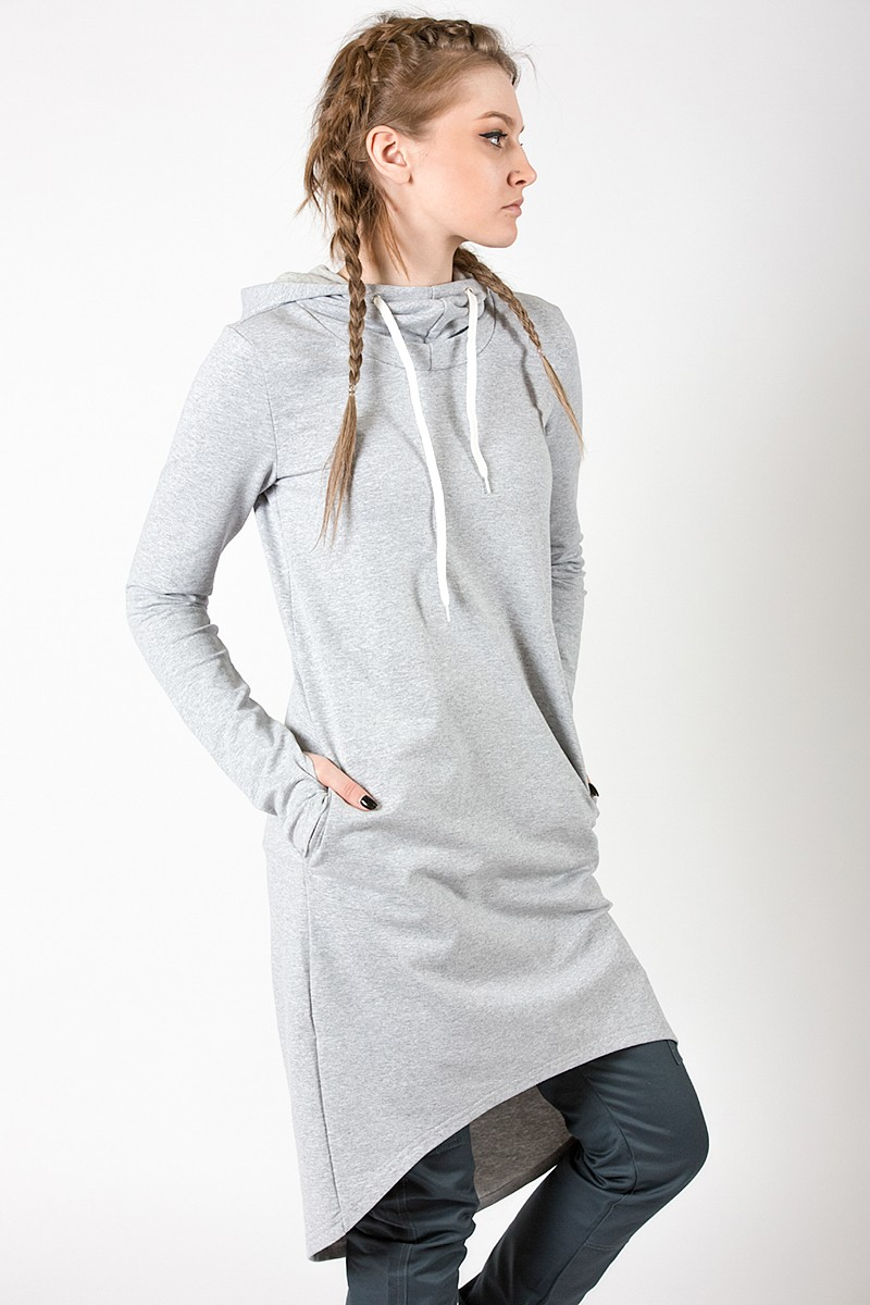 Платье-худи M-SQUARE Grey