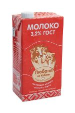 Молоко Любаня из Кубани 3,2%
