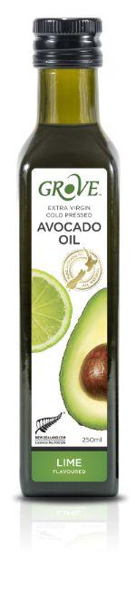 Масло авокадо GROVE AVOCADO OIL EXTRA VIRGIN. Первый холодный отжим со вкусом Lime