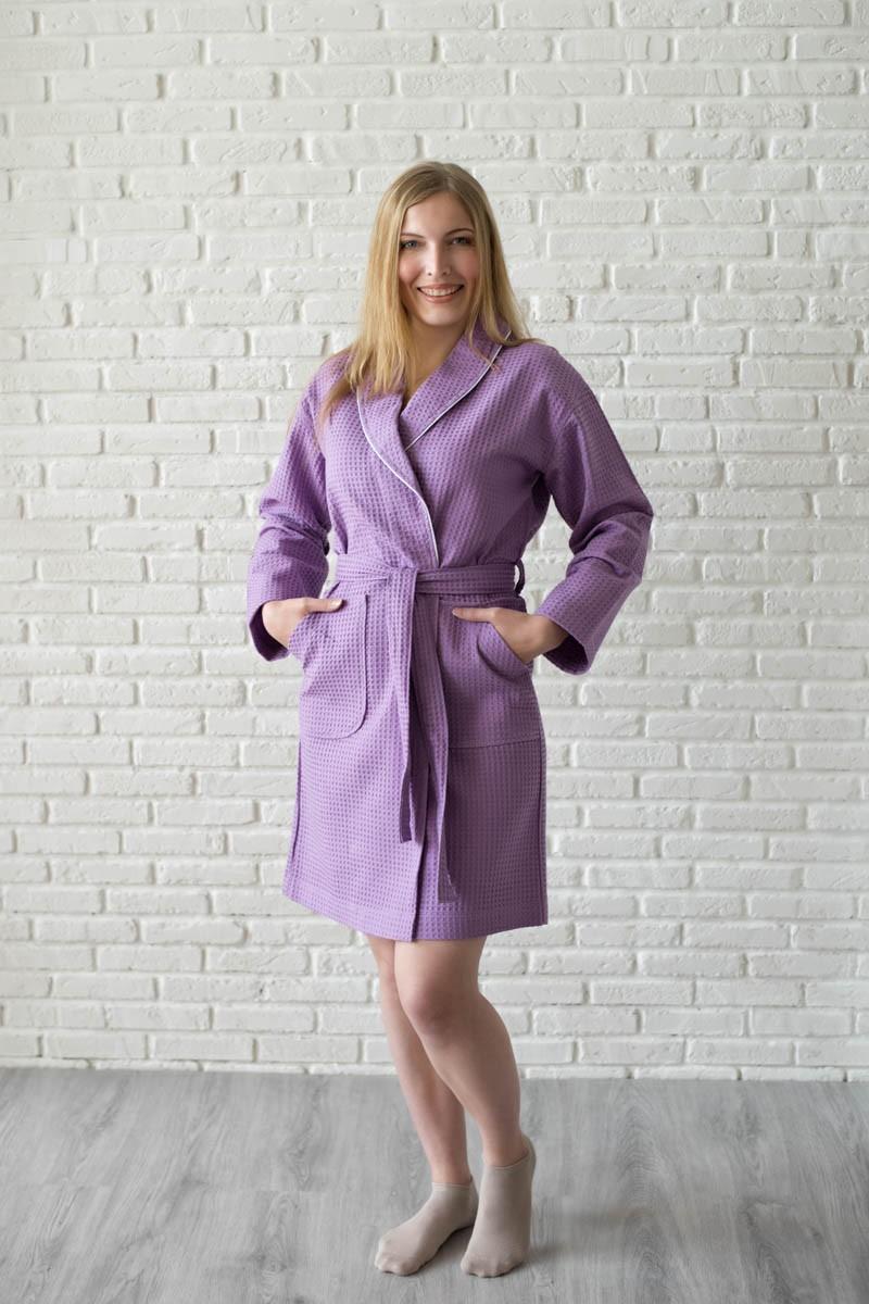 Халат женский вафельный, большая клетка, плотная (242 гр/м2) и качественная ткань,цена 860 руб.