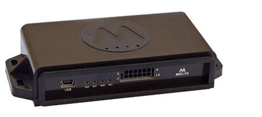 ТРЕКЕР MIELTA M7 Спутниковый терминал MIELTA M7 – функциональный и надежный прибор для отслеживания местоположения автотранспорта. 2 sim-карты, увеличенный до 16 мб «черный ящик» для хранения данных, 4 универсальных порта, голосовая связь – это далеко не полный список его функций. К стандартному набору интерфейсов RS-485, RS-232, 1-Wire добавлен встроенный интерфейс CAN, позволяющий подключаться к CAN-шине автотранспорта. Bluetooth 3.0 расширяет возможности прибора при конфигурировании и подключении дополнительных датчиков. Вандалоустойчивость прибора обеспечивается не только фирменным ударопрочным корпусом с защитой разъемов. Сочетание полного комплекта встроенных антенн и внешней активной спутниковой антенны с режимом автоматического переключения минимизирует риск выхода прибора из строя при саботаже. Система питания прибора уникальна. Она обеспечивает стабильную работу независимо от источника тока и состояния встроенного аккумулятора. Характеристики  Питание 8 – 55 В, защита от импульсных помех, защита от обратной полярности, предохранитель  Потребляемая мощность Средняя - 1 Вт, максимальная - 3 Вт  АКБ Li-Po аккумулятор 800 мА*ч, зарядка от бортовой сети и USB  Универсальные порты 4 шт., открытый коллектор, ток до 300 мА, защита от самоиндукции  Аналоговый вход напряжение от 0 до 36 В, входное сопро- тивление 30 кОм, разрядность 10 бит  Дискретный вход активный сигнал – 0 В, внутренняя подтяжка 3.3 В, сопротивление 20 кОм, частота до 10 кГц, счетчик до 1000000  Дискретный выход открытый коллектор, ток до 300 мА, защита от самоиндукции  1-Wire встроенный, до 8 устройств на шине  RS-485 Встроенный, до 8 устройств на шине  RS-232 Встроенный  CAN Встроенный, SAE J1939  USB 2.0 Конфигурирование, прошивка, передача данных, питание, зарядка  Внешняя спутниковая антенна Есть, SMA, автоматическое переключение встроенная/внешняя  Внутренняя спутниковая антенна GPS/ГЛОНАСС  GSM-антенна Встроенная  Bluetooth 3.0 Встроенный, конфигурирование, прошивка, передача данных  Встро