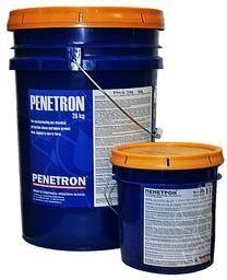 Пенетрон (проникающая гидроизоляция). Используется для гидроизоляции всей толщи сборных и монолитных бетонных и железобетонных конструкций, поверхностей и штукатурных слоев, выполненных из цементно-песчаного раствора марки М150 и выше. Цена: 310руб/кг, фасовка: ведра по 5, 10 и 25 кг.